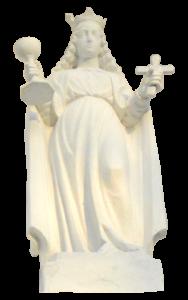 św. barbara - rzeźba